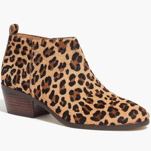 J.Crew NWOT Leopard Calf Hair & Leather Ankle Boot